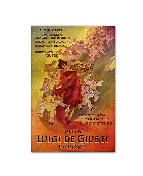 "Trademark Global Vintage Apple Collection 'Luigi De Giusti Chocolate' Canvas Art - 30"" x 47"""