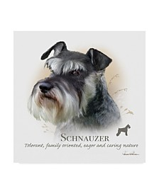 "Howard Robinson 'Schnauzer' Canvas Art - 24"" x 24"""