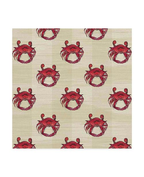 """Trademark Global Jessmessin 'Red Crabs Natural' Canvas Art - 24"""" x 24"""""""