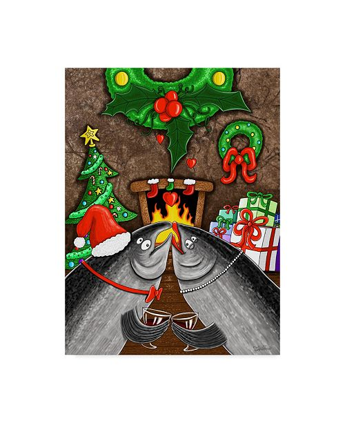 "Trademark Global Jake Hose 'Under The Mistletoe' Canvas Art - 35"" x 47"""