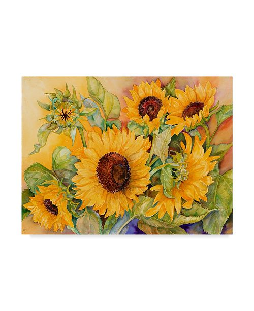 "Trademark Global Joanne Porter 'A Cutting Of Sunflowers' Canvas Art - 24"" x 32"""