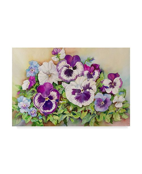 "Trademark Global Joanne Porter 'Pansy Cluster' Canvas Art - 30"" x 47"""