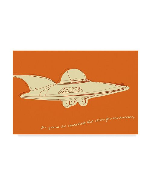 "Trademark Global John W. Golden 'Lunastrella Flying Saucer' Canvas Art - 30"" x 47"""