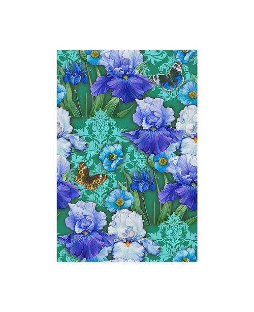 "Trademark Global Maria Rytova 'Irises (Pattern)' Canvas Art - 30"" x 47"""
