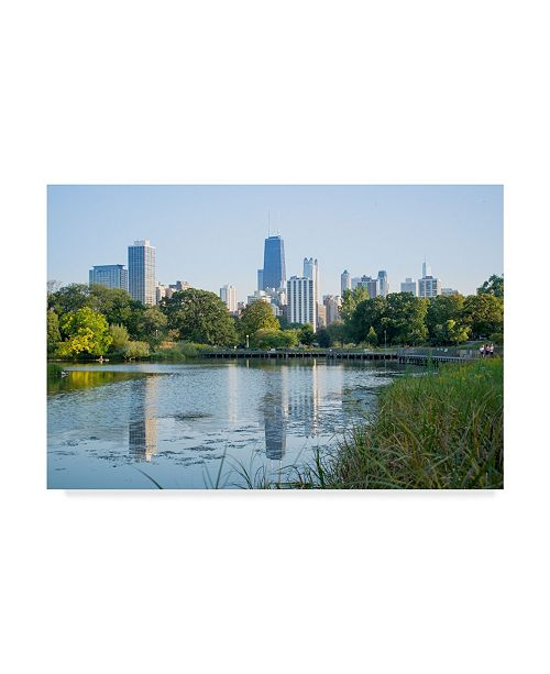 "Trademark Global NjR Photos 'Reflection Pond' Canvas Art - 30"" x 47"""