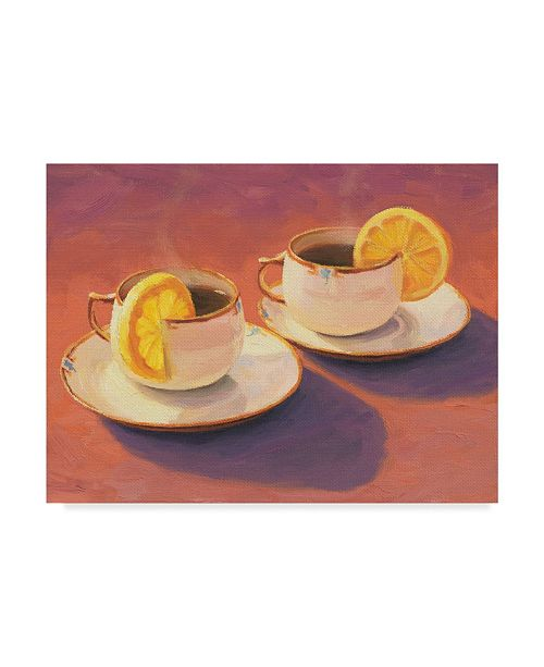 "Trademark Global William Breedon 'Tea Cups' Canvas Art - 35"" x 47"""