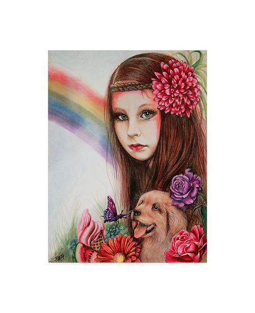 "Trademark Global Sheena Pike Art And Illustration 'Summer Seasons' Canvas Art - 35"" x 47"""