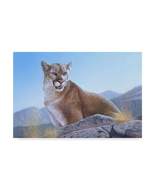 "Trademark Global Rusty Frentner 'Mountain King' Canvas Art - 22"" x 32"""