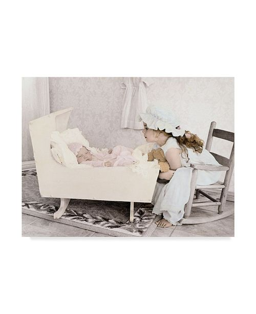 "Trademark Global Sharon Forbes 'Are You Sleeping' Canvas Art - 24"" x 32"""