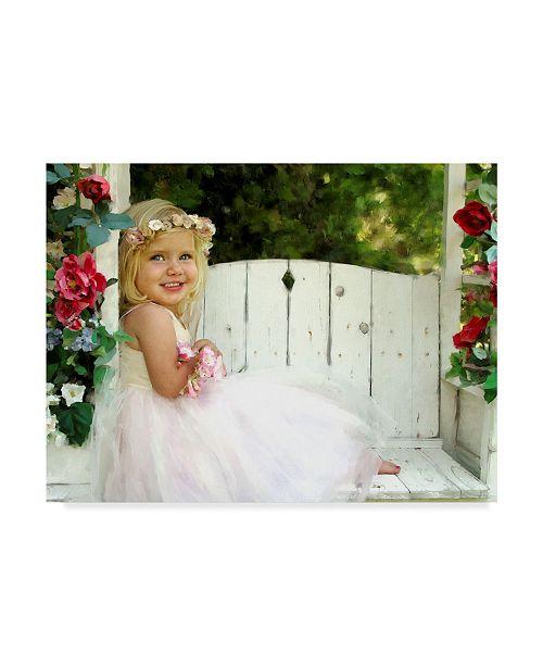 "Trademark Global Sharon Forbes 'Flower Child' Canvas Art - 24"" x 32"""