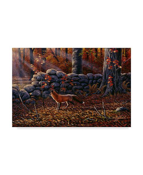 "Trademark Global Wilhelm Goebel 'Autumn Reds Red Fox' Canvas Art - 22"" x 32"""