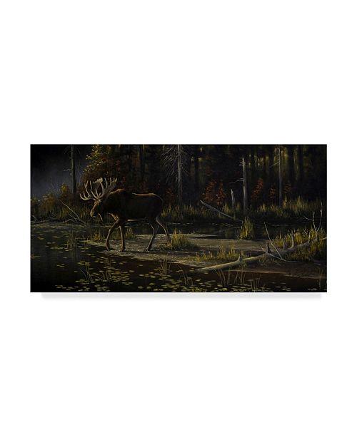 "Trademark Global Wilhelm Goebel 'Autumn Moose' Canvas Art - 24"" x 47"""