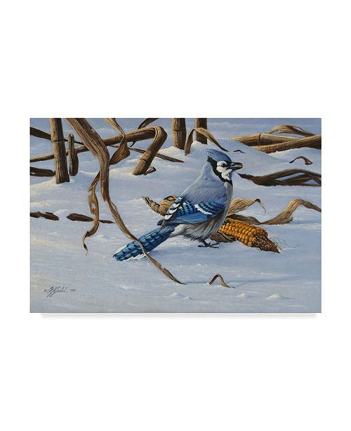 "Trademark Global Wilhelm Goebel 'Blue Jay' Canvas Art - 30"" x 47"""