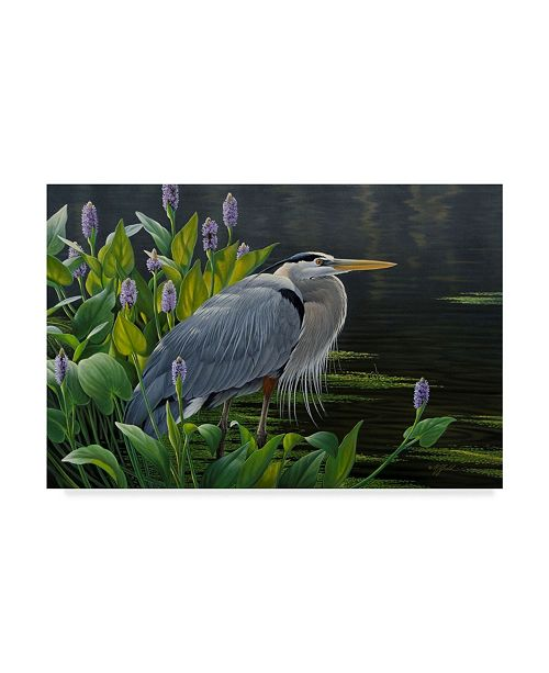 "Trademark Global Wilhelm Goebel 'Biding Time Great Blue Heron' Canvas Art - 22"" x 32"""