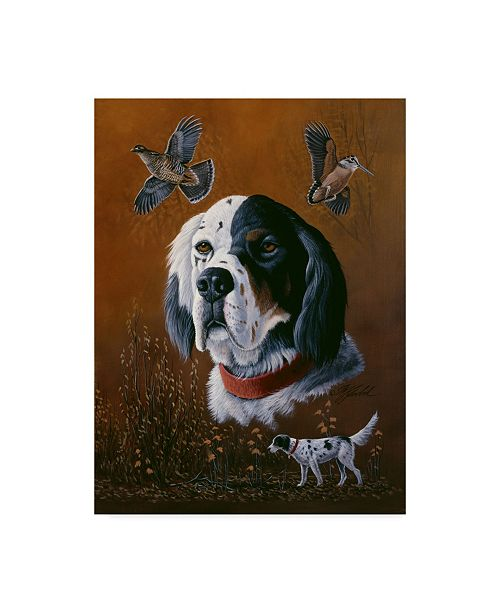 "Trademark Global Wilhelm Goebel 'English Setter' Canvas Art - 24"" x 32"""