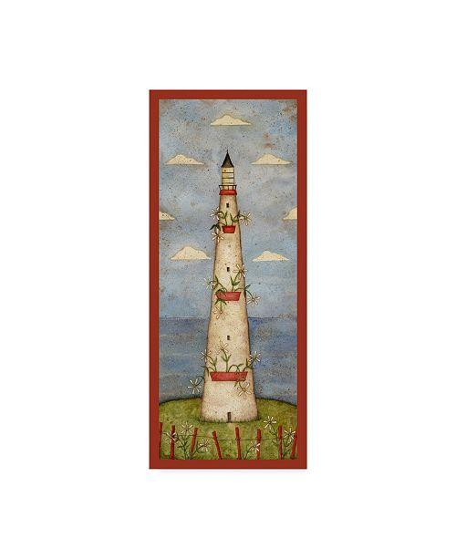 """Trademark Global Robin Betterley 'Daisy Lighthouse' Canvas Art - 8"""" x 19"""""""