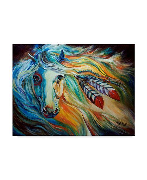"Trademark Global Marcia Baldwin 'Breaking Dawn Indian War Horse' Canvas Art - 47"" x 35"""