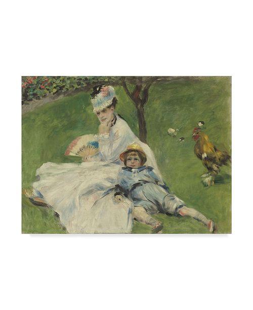 "Trademark Global Pierre Auguste Renoir 'Madame Monet And Her Son' Canvas Art - 24"" x 18"""