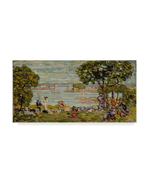 "Trademark Global Maurice Brazil Prendergast 'Cove Maine' Canvas Art - 32"" x 16"""