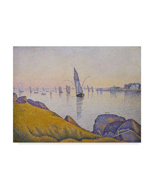 "Trademark Global Paul Signac 'Evening Calm Concarneau Opus' Canvas Art - 47"" x 35"""