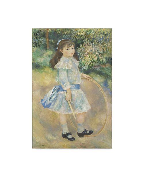 "Trademark Global Pierre Auguste Renoir 'Girl With A Hoop' Canvas Art - 32"" x 22"""