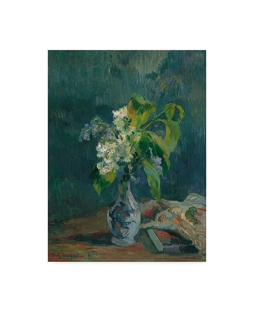 "Trademark Global Paul Gauguin 'Lilacs' Canvas Art - 24"" x 18"""