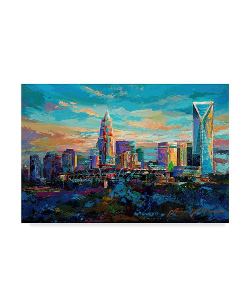 "Trademark Global Jace D. Mctier 'The Queen City Charlotte North Carolina' Canvas Art - 47"" x 30"""