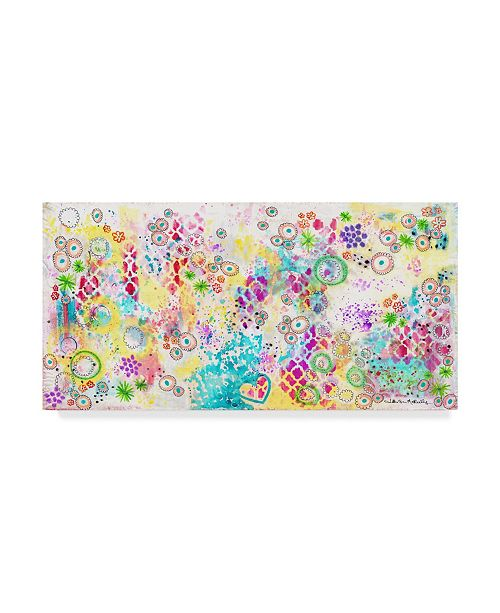 "Trademark Global Jennifer Mccully 'Colorful Chaos - Jennifer' Canvas Art - 32"" x 16"""