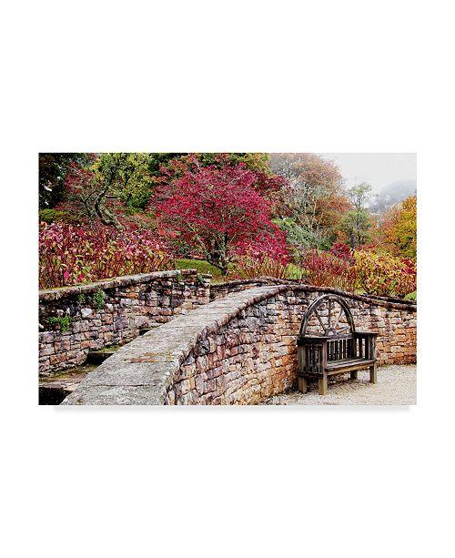 "Trademark Global Incredi 'Garden Bridge Stone' Canvas Art - 47"" x 30"""