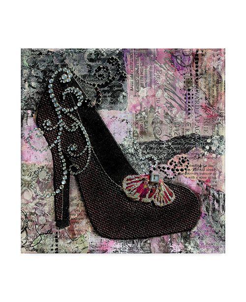 """Trademark Global Janelle Nichol 'Pretty In Purple Black Heels' Canvas Art - 35"""" x 35"""""""