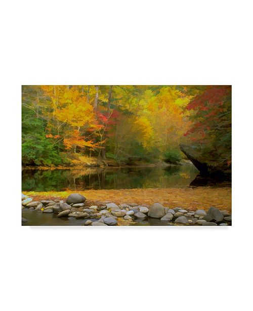 "Trademark Global J.D. Mcfarlan 'Little River' Canvas Art - 32"" x 22"""