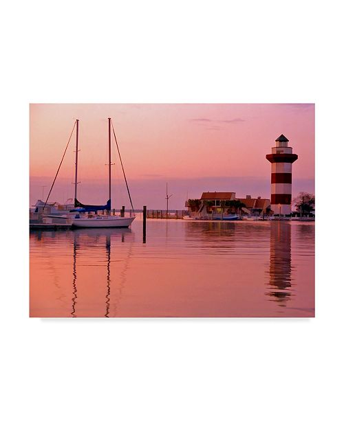 "Trademark Global J.D. Mcfarlan 'Harbortown, SC Lighthouse' Canvas Art - 32"" x 24"""