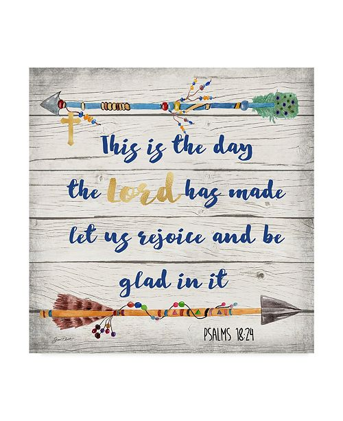 "Trademark Global Jean Plout 'Rustic Bible Verse 1' Canvas Art - 35"" x 35"""