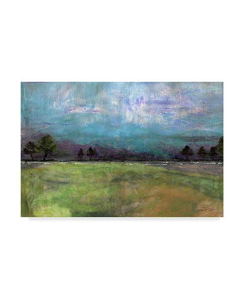 "Trademark Global Jean Plout 'Abstract Aqua Sky Landscape' Canvas Art - 32"" x 22"""