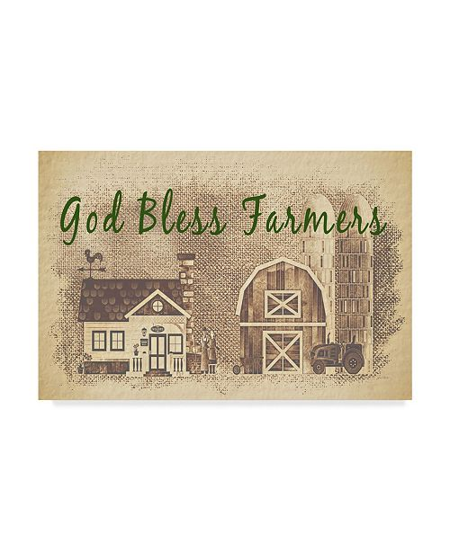 "Trademark Global Jean Plout 'Farm Life 3' Canvas Art - 47"" x 30"""