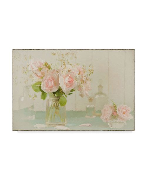 "Trademark Global Cora Niele 'Vintage Roses Still Life' Canvas Art - 47"" x 30"""