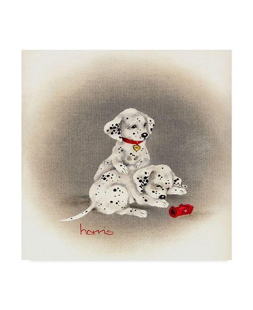 "Trademark Global Peggy Harris 'Dalmatian Curiosity' Canvas Art - 24"" x 24"""