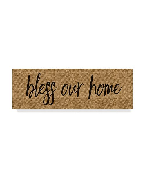 "Trademark Global Marcee Duggar 'Bless Our Home Burlap Long' Canvas Art - 47"" x 16"""