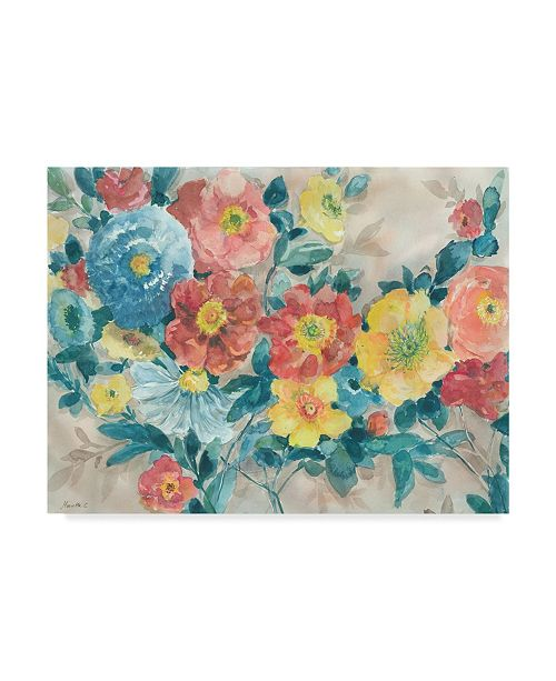 "Trademark Global Marietta Cohen Art And Design 'Spring Is Here Floral' Canvas Art - 47"" x 35"""