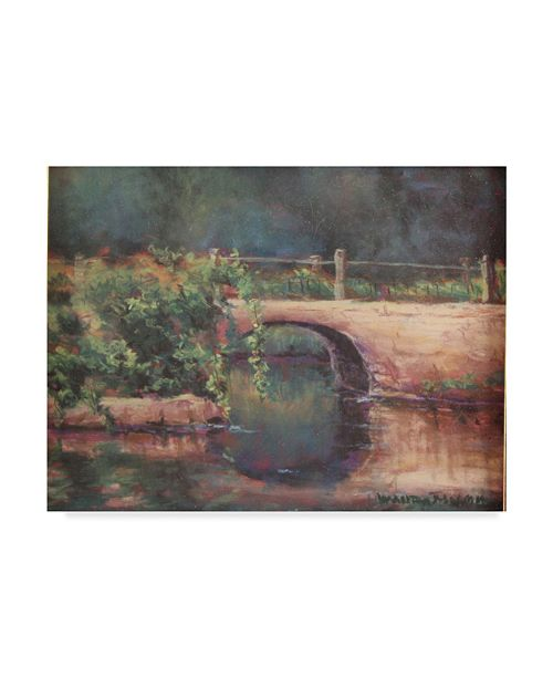 "Trademark Global Wanda Mumm 'Bridge Over River' Canvas Art - 32"" x 24"""
