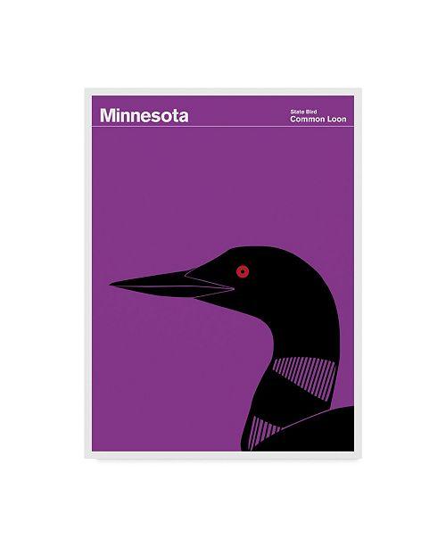 "Trademark Global Print Collection - Artist 'Common Loon Bird Minnesota' Canvas Art - 24"" x 32"""