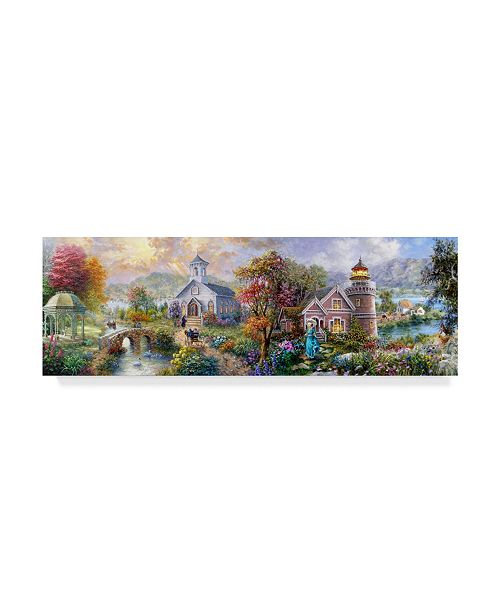"Trademark Global Nicky Boehme 'Sunday Morning In Spring' Canvas Art - 24"" x 8"""