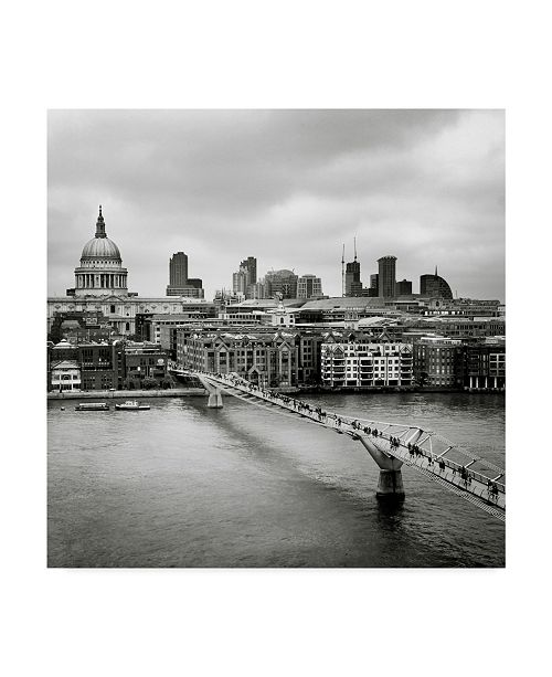 "Trademark Global Nina Papiorek 'London Millennium Bridge' Canvas Art - 24"" x 24"""