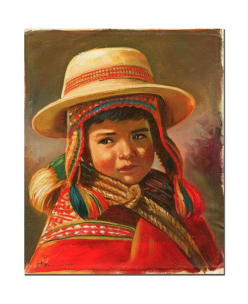 "Trademark Global Jimenez 'Nino Andino' Canvas Art - 32"" x 26"""