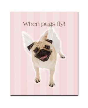 "Gifty Idea Greeting Cards and Such! 'Pug Angel' Canvas Art - 32"" x 26"""