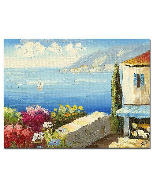 """Trademark Global Rio 'Mediterranean Cottage' Canvas Art - 32"""" x 26"""""""