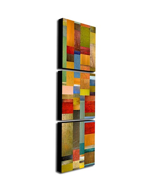 "Trademark Global Michelle Calkins 'Color Panes-Green Grass' Canvas Art Set - 32"" x 24"""