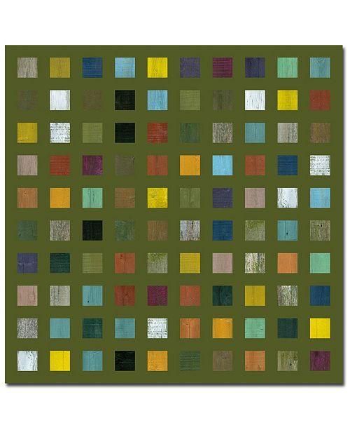 "Trademark Global Michelle Callkins, 'Rustic Wooden Abstract IX' Canvas Art - 35"" x 35"""