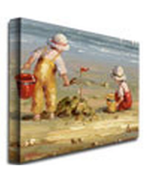 "Trademark Global Rosa 'At the Beach' Canvas Art - 47"" x 35"""