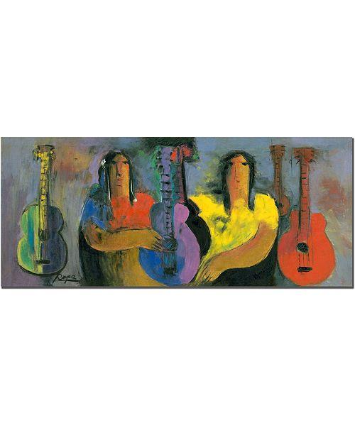 "Trademark Global Jimenez 'Bohemiosby Boyer' Canvas Art - 32"" x 14"""